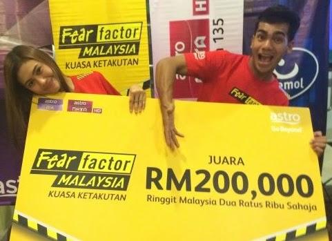Erin Malek dan Redha Juara Fear Factor Malaysia Musim 2, pemenang Fear Factor Malaysia 2, biodata pemenang Fear Factor Malaysia Musim 2, biodata erin malek, biodata redha