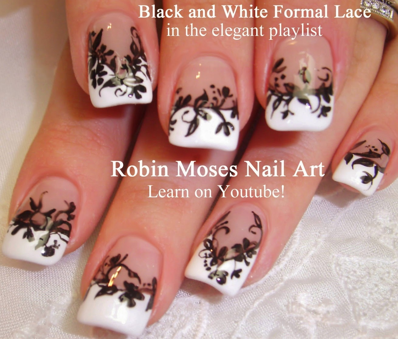 Nail Art By Robin Moses Lace Nails Nail Art Lace Nail Art