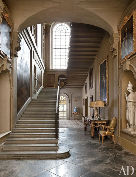 New home interior design easton neston revived for Grand staircase design