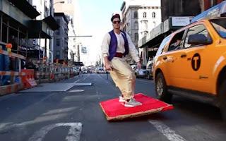 Aladin en visite à New York