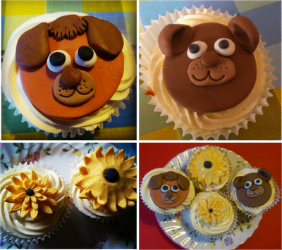 party cupcakes kids birthday animals sugarpaste flowers