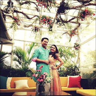 Minissha Lamba wedding photos with husband