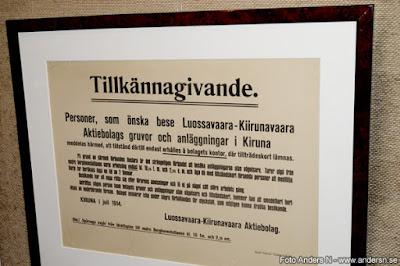 besöka gruvan Kiruna