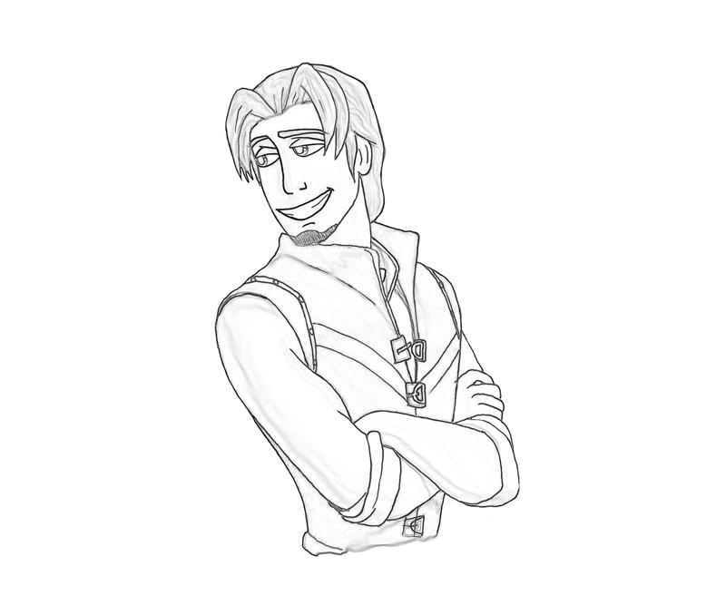 Free coloring pages of flynn rider
