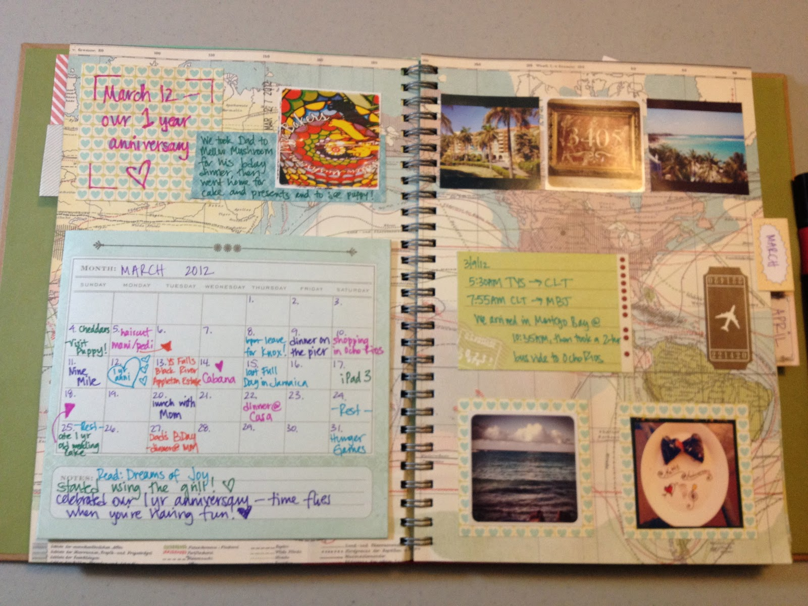 Mrs crafty adams: this time last year: project life smash book march