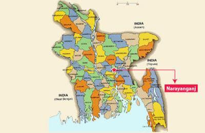 map in  Sonargang