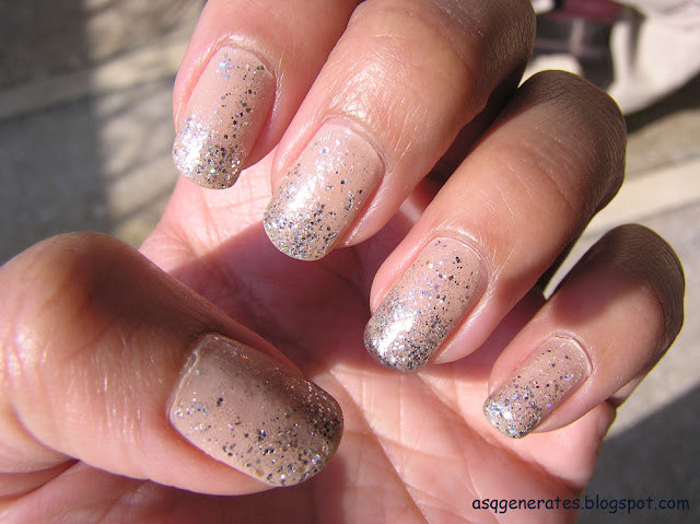Ice Princess Nail Art in sunlight