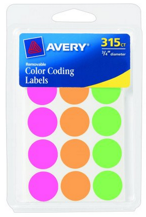 http://www.amazon.com/Avery-Coding-Labels-Assorted-Removable/dp/B004INFQJ0