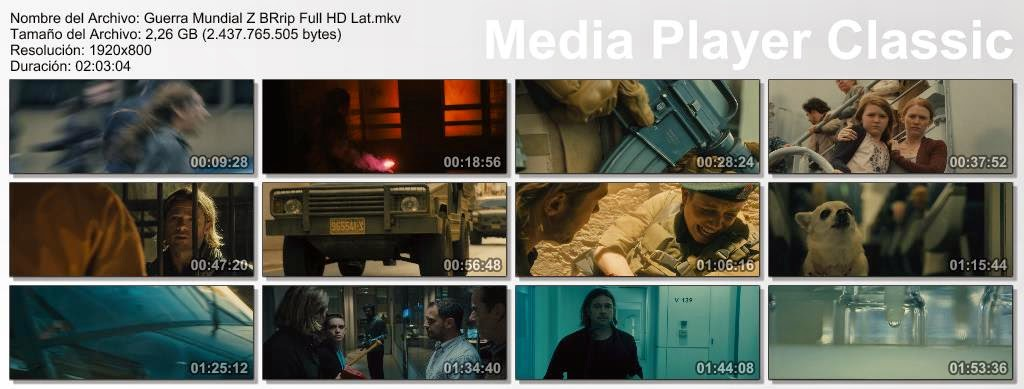 Guerra Mundial Z (2013) BRrip Full HD Latino