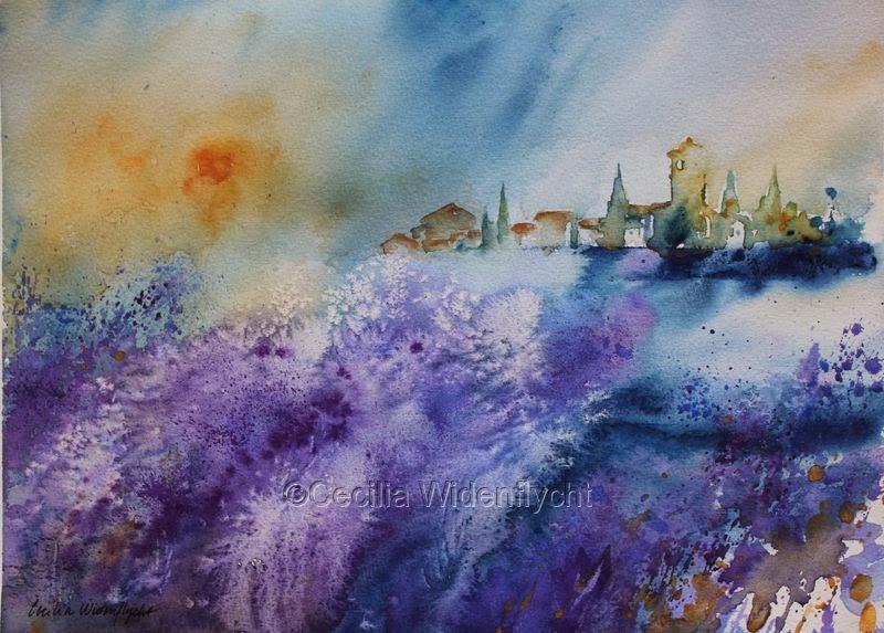 Akvarell är:spänning, utmaning, flöde, färg, improvisation, experimenterande, snabba beslut, väntan