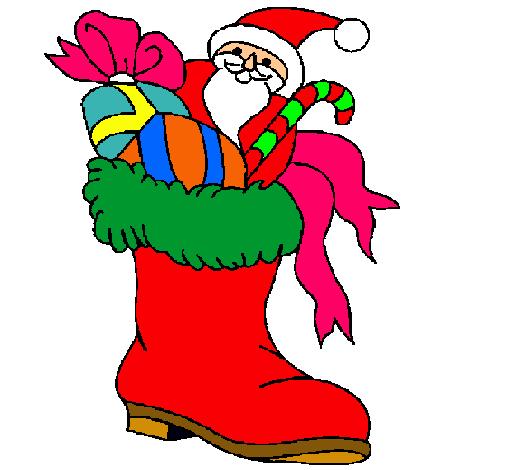 Botas navidenas dibujos aninanos for Dibujos de navidad pintados