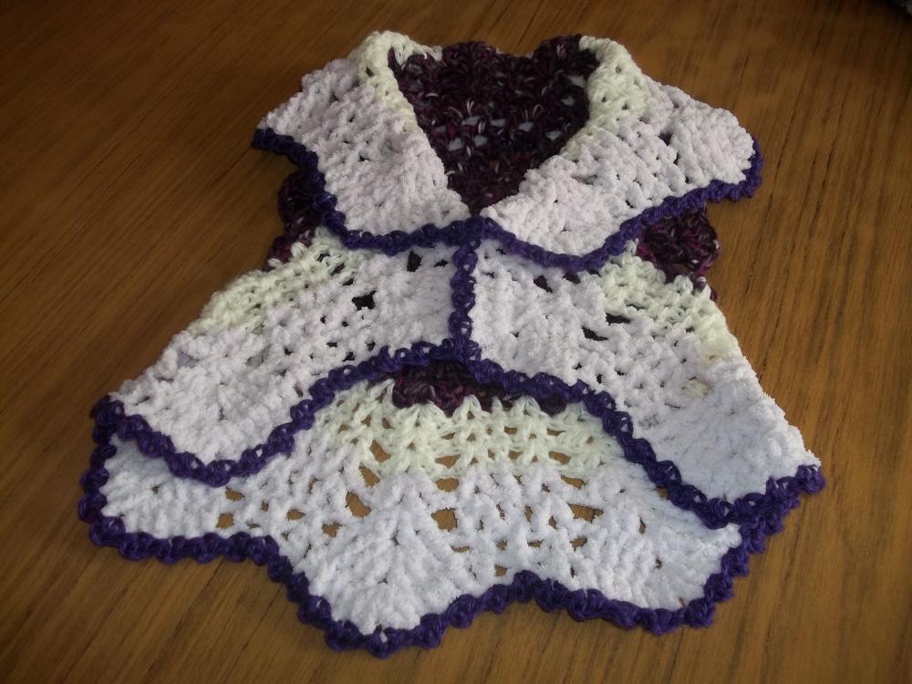 Chaleco redondo crochet para nena