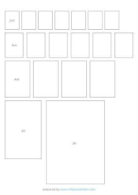 Ukuran Foto 2x3, 3x4, 4x6, 3R, dan 4R dalam Cm dan Inchi