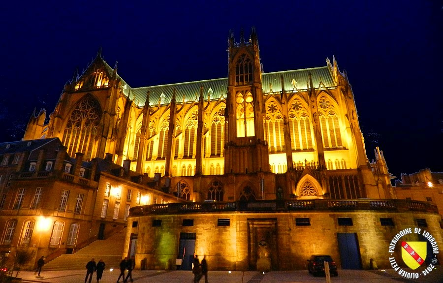 METZ (57) - La cathédrale Saint-Etienne by night !