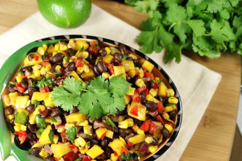 ... Roasted Corn, Black Bean, & Mango Salsa {my all-time favorite salsa
