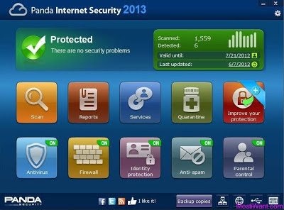 Panda Internet Security 2013 License Key Full Version 6Month