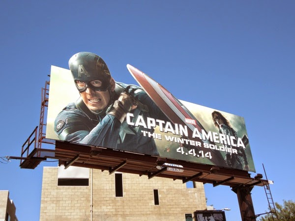 Captain America Winter Soldier billboard