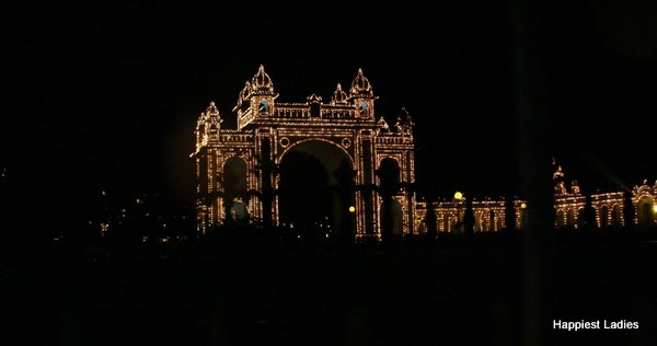 Mysore Palace Gate Dasara Lighting
