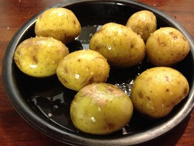 Potatoes in oil