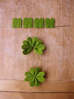 Saint Patrick's Day - Trevo da Sorte em Feltro
