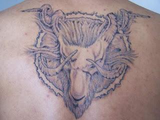 Zodiac Sign Aries Symbol Tattoo Design