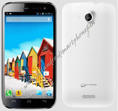Micromax A116 Canvas HD Black Front & Back Images & Photos.