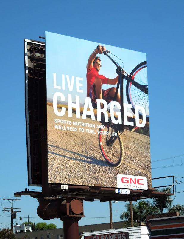 GNC Live Charged billboard