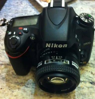 Fotografia della Nikon D600 dall'alto
