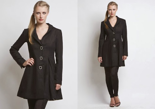 Vestidos casaco pretos