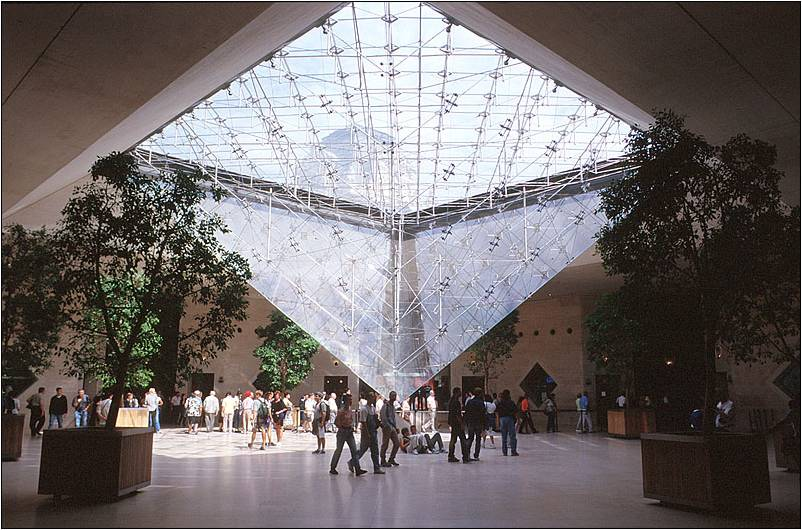 Image gallery louvre pyramid inside for Interieur forma
