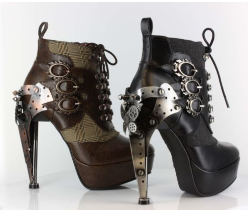 An image showing steampunk high highheels