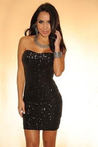 modelo de vestido com brilho