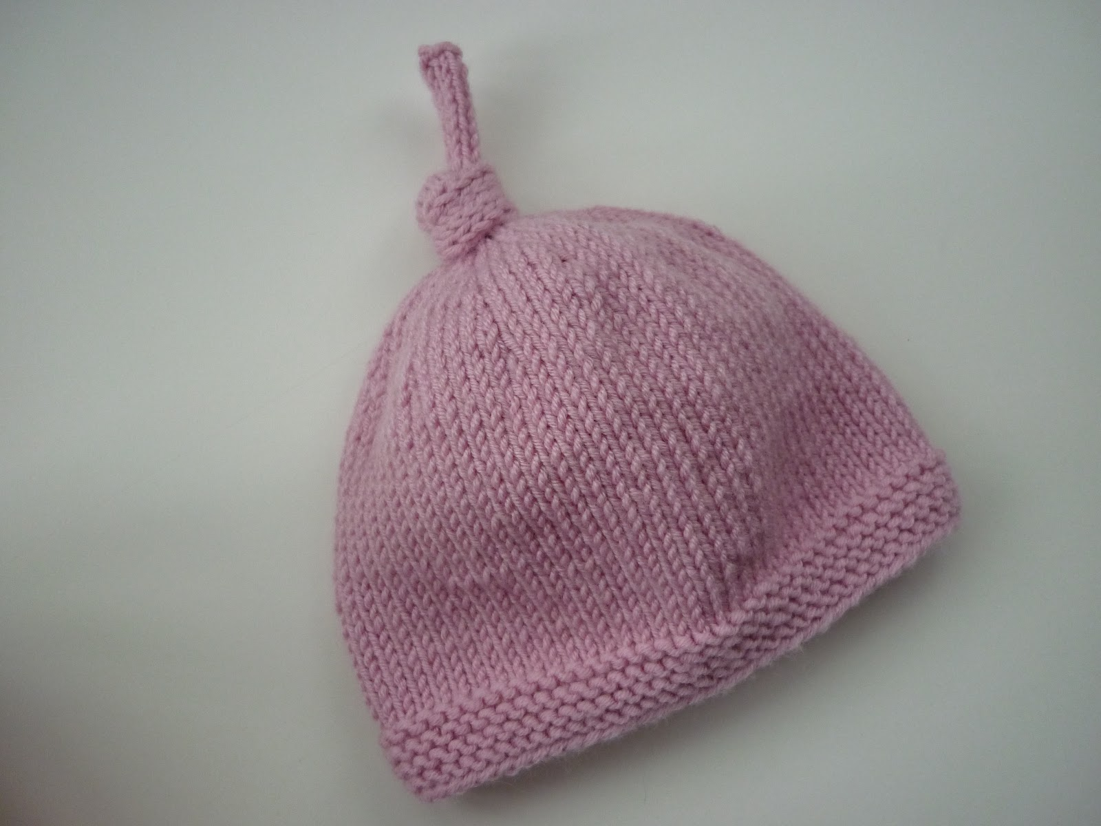 lovefibres: Tegan - Baby Hat with Top Knot Pattern