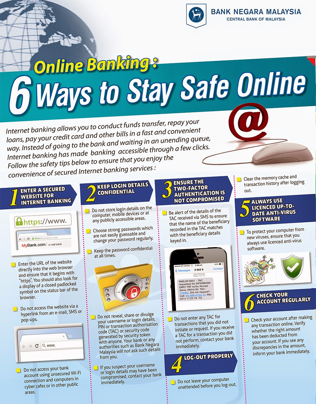 Bank Negara Malaysia's Guide to Safe Online Banking