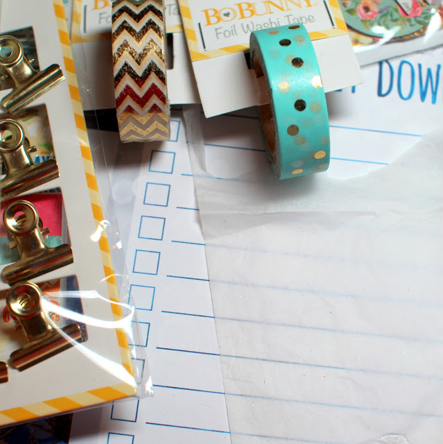 Washi Tape Tutorial by Ilene Tell Using BoBunny Calendar Girl