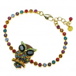 owl bracelet, butler and wilson