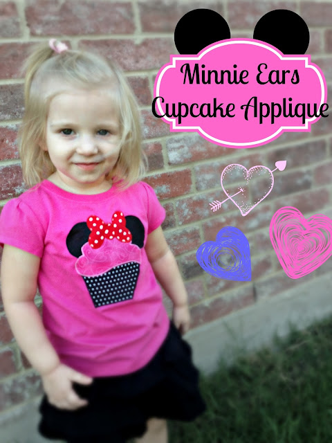 Minnie Mouse Cupcake Applique | The TipToe Fairy
