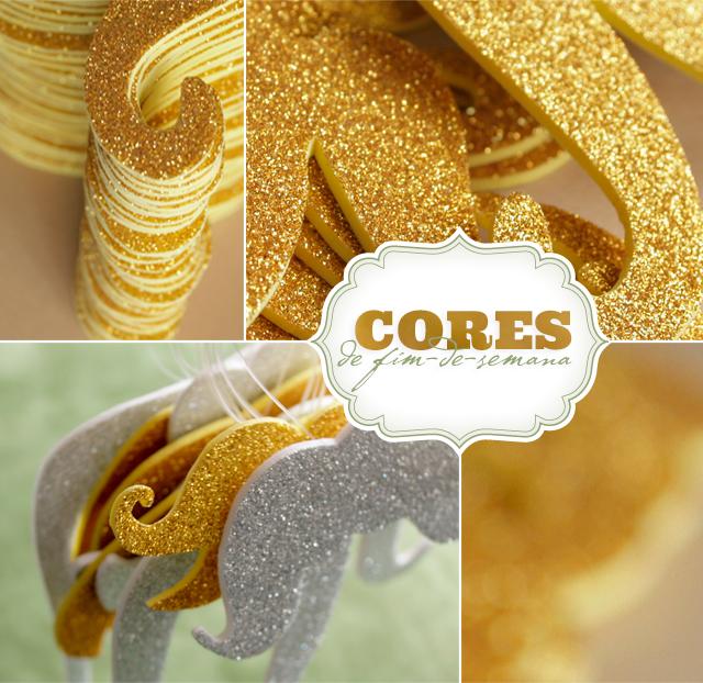 bigodes dourados prateados