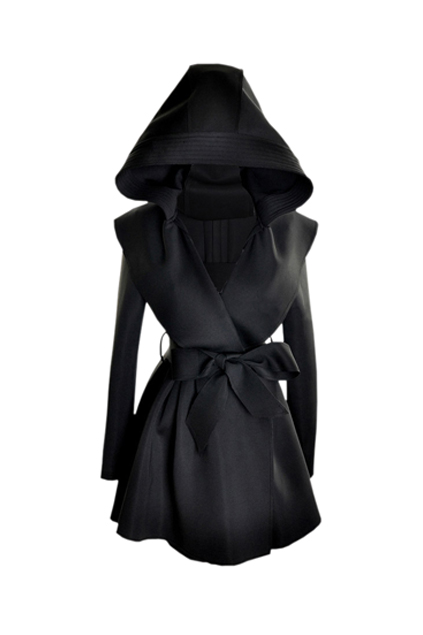 black trench coat with hood - photo #7
