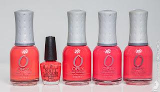 Orly Ole, Aloha from OPI, Orly Teeny Bikini, Orly OMG, Orly Terracotta