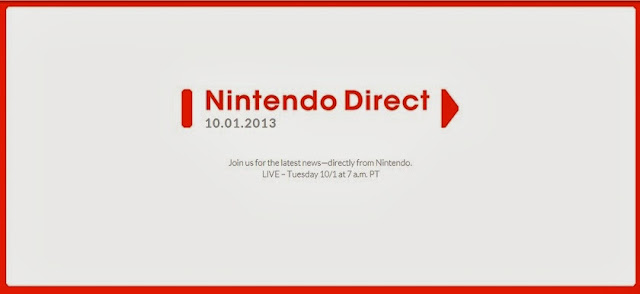 Nintendo Direct scheduled for October 1st, 2013