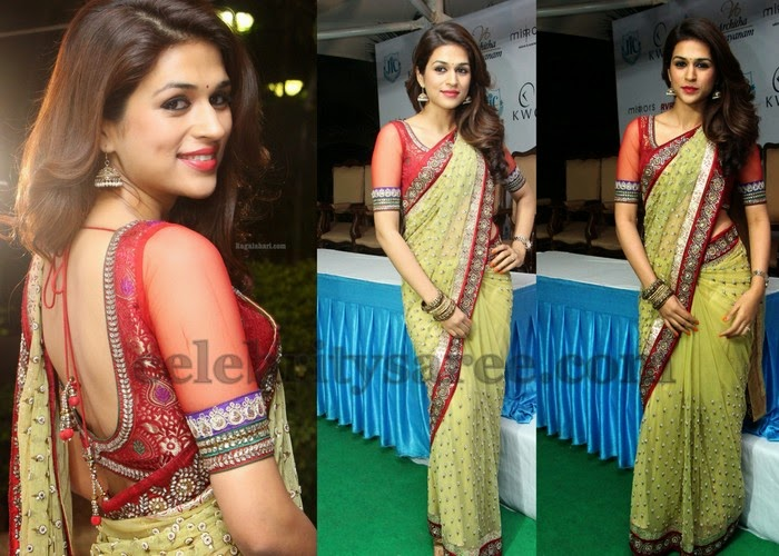 Shradda Das Latest Fancy Work Saree