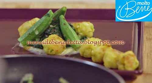 Polpette di merluzzo con guazzetto alle erbe ricetta Parodi per Molto Bene su Real Time