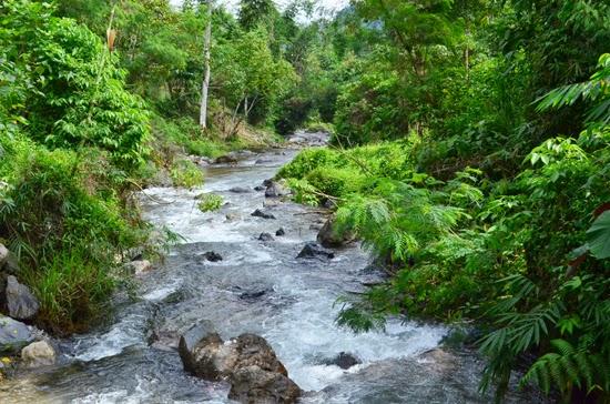 TREKKING T'DAAN KINI FALLS IN LAKE SEBU