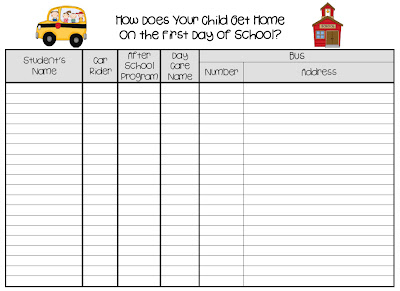 Lanier 39 s lions open house friday freebie for Back to school sign in sheet template