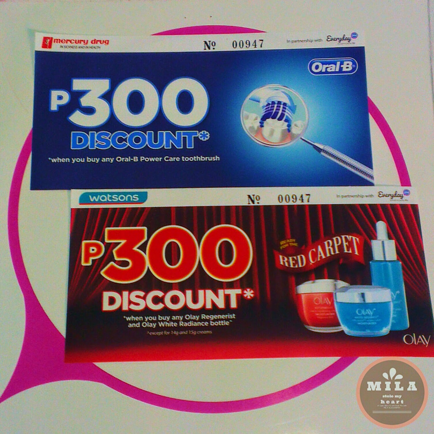 Oral B and Olay Discount Vouchers