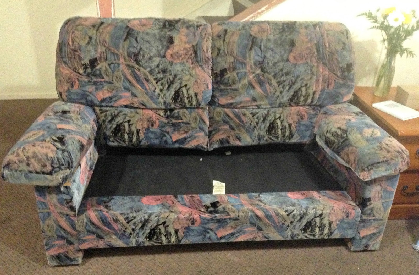 salute to cute no sew couch cover. Black Bedroom Furniture Sets. Home Design Ideas