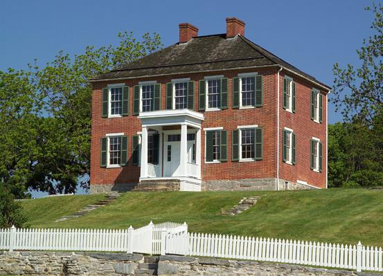 The Pry House served as General McClellan's headquarters during the Battle of Antietam and is thought to be haunted by the wife of a General that died there.