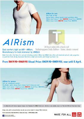 Uniqlo Airism apparel sale Offer END 5 APR 2012