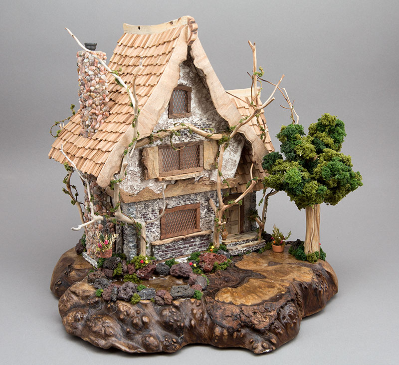 Unique handcrafted cottage with hand cut cedar shake